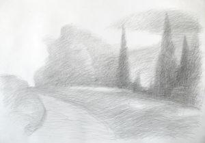 Работы Будникова с выставки в галерее Bottega «Мій Крим Наш Крым»